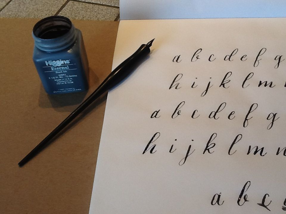Modern calligraphy skillshare projects