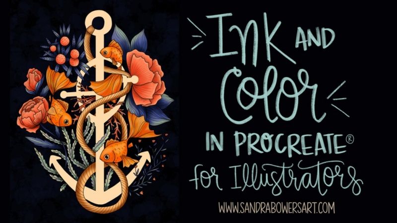 Sample Project for Ink and Color in Procreate for Illustrators