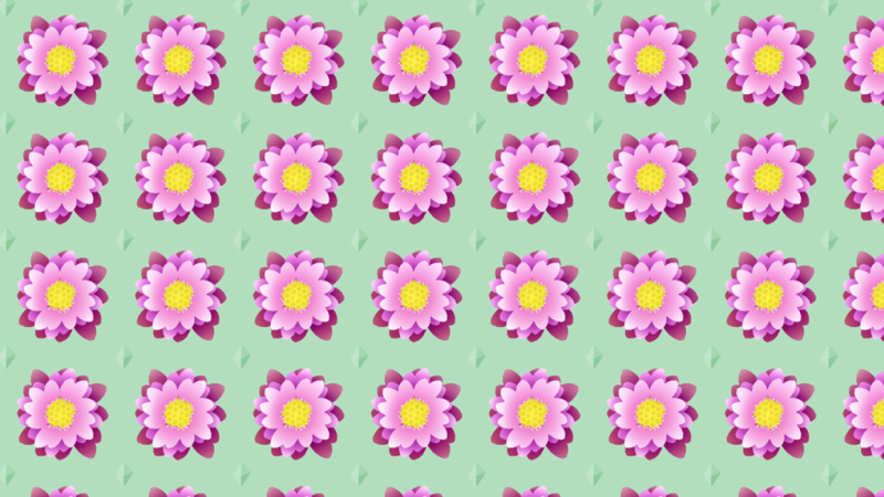 First go at creating a repeating flower pattern!