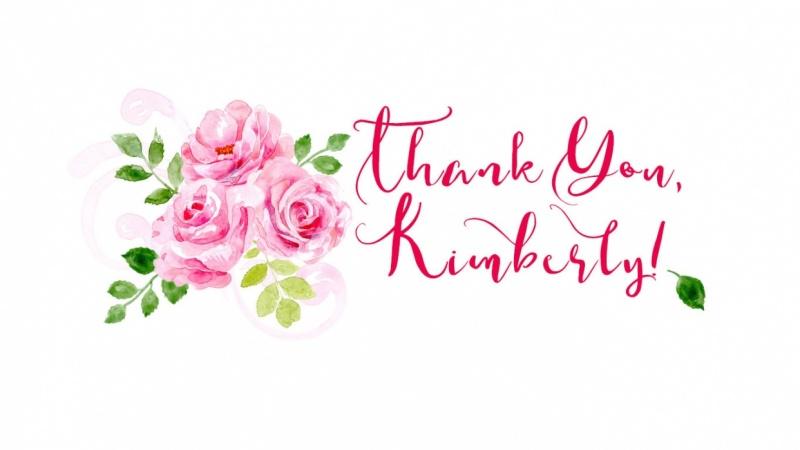 Thanks Kimberly!