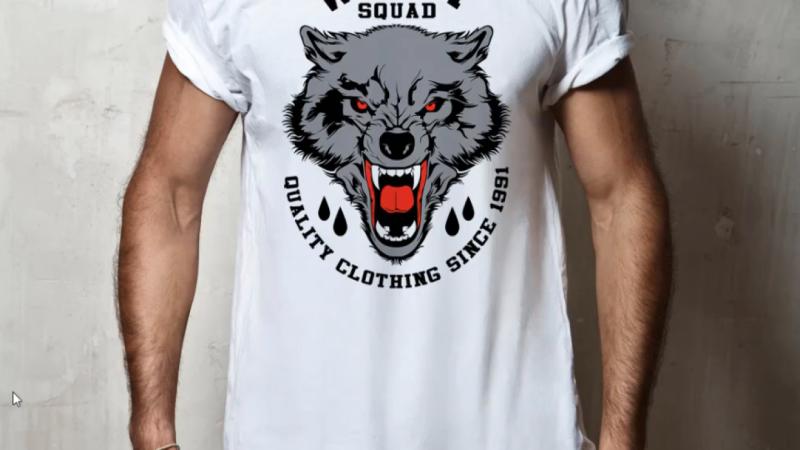 Wolf T-shirt Design With Adobe Photoshop CC