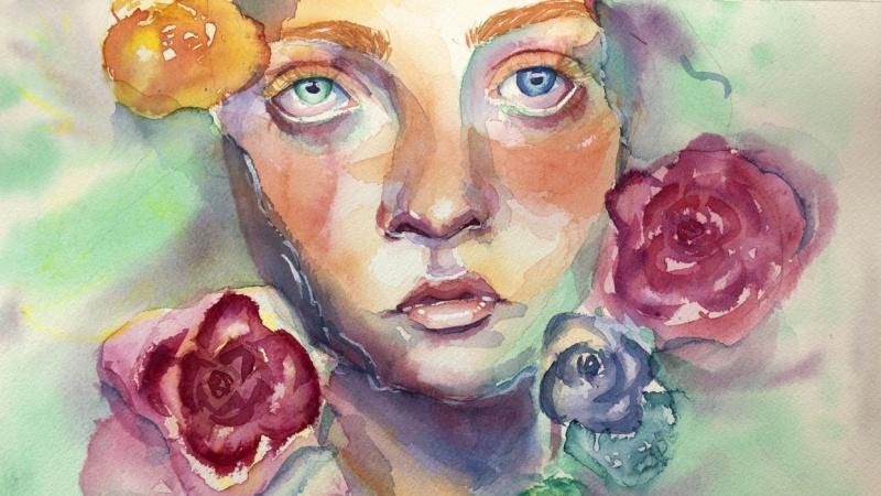 Watercolor Portraits - Teacher Project
