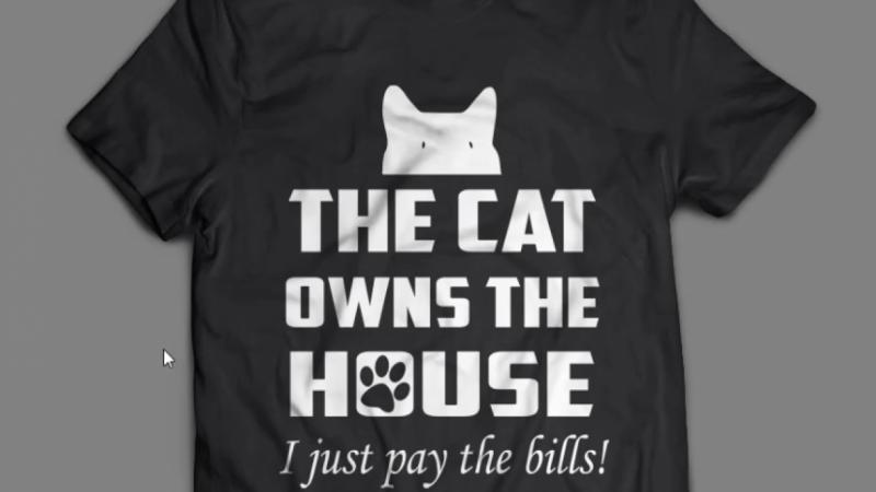 Cat T-shirt With Illustrator