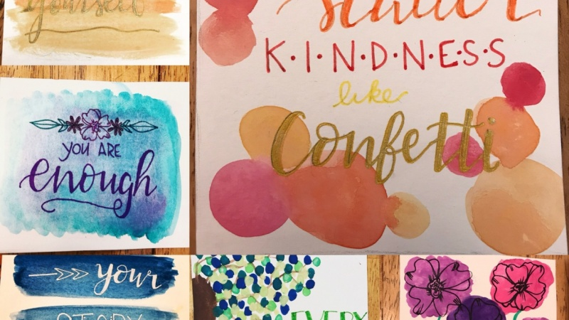 Lettering Backgrounds