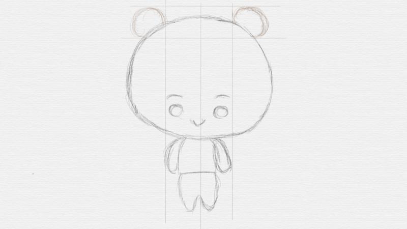 Chibi Bear Cub draft