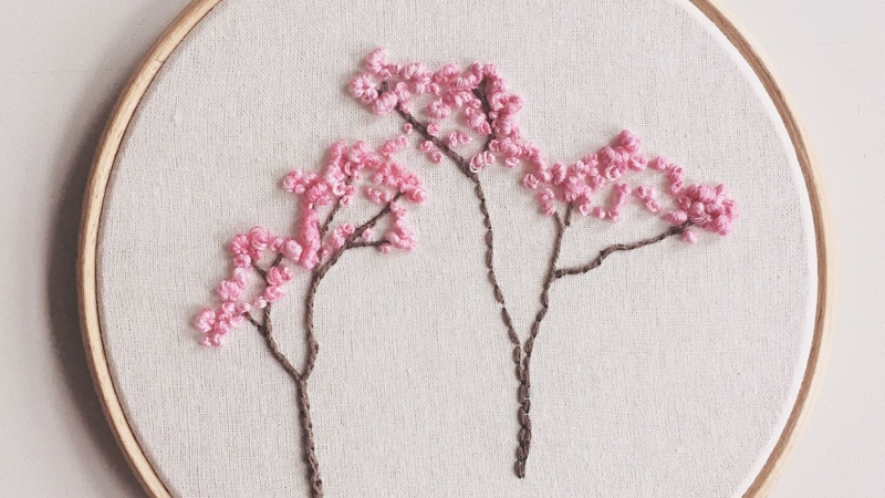 Blossom Embroidery Hoop Art