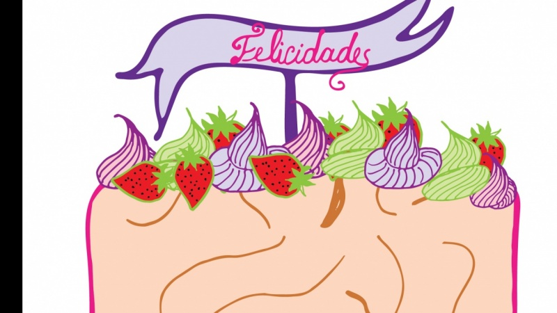 Almond & strawberry cake