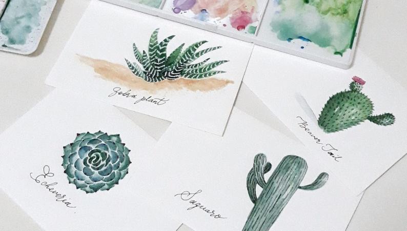 My Watercolor Cacti & Succulents