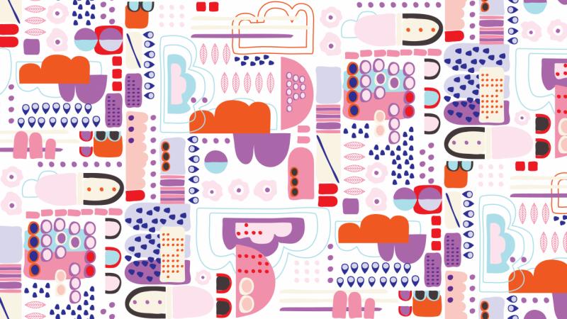 Abstract Half-Drop Pattern