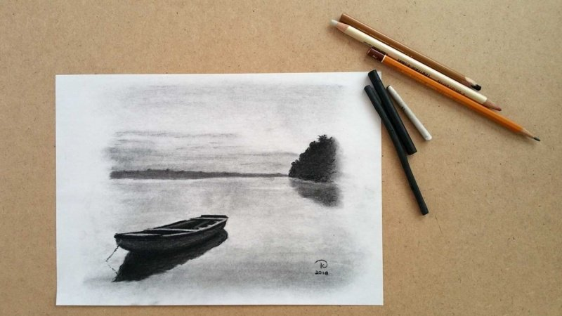 Charcoal drawing project