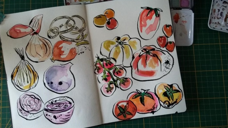 Sketchbook Practice : Create Freely with Ink and Watercolor