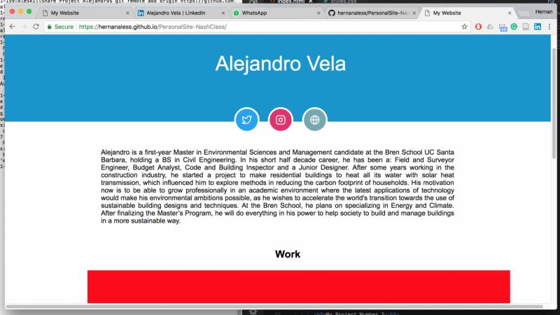 Alejandro Vela Project - Nash Class
