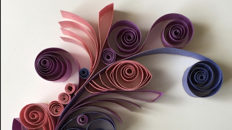 Hand-quilled feather