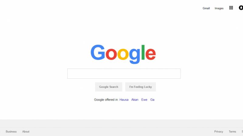 Google Search Landing Page