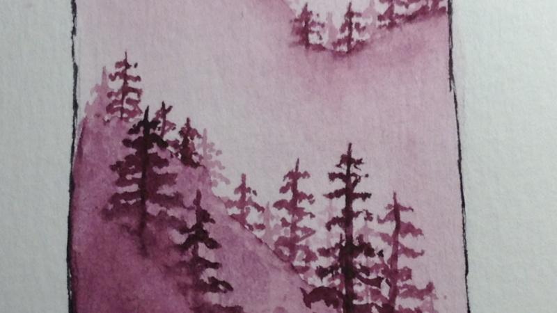 Misty Little Trees