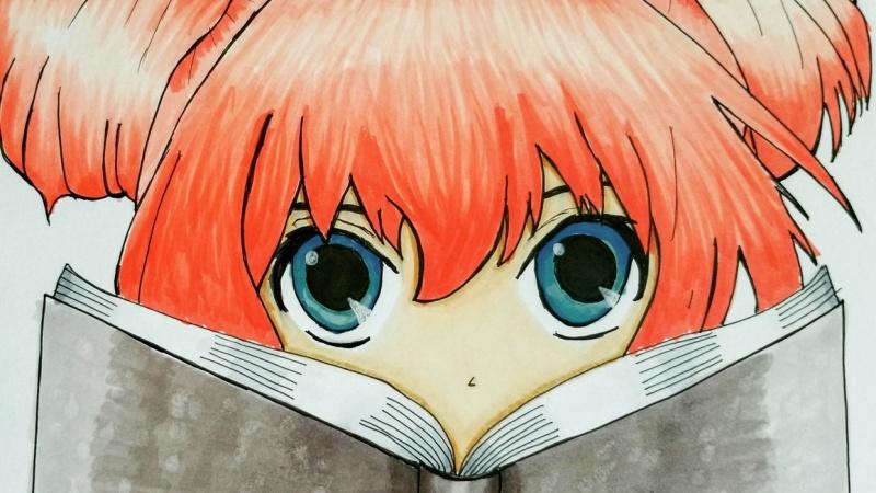 Anime Girl Reading a Book