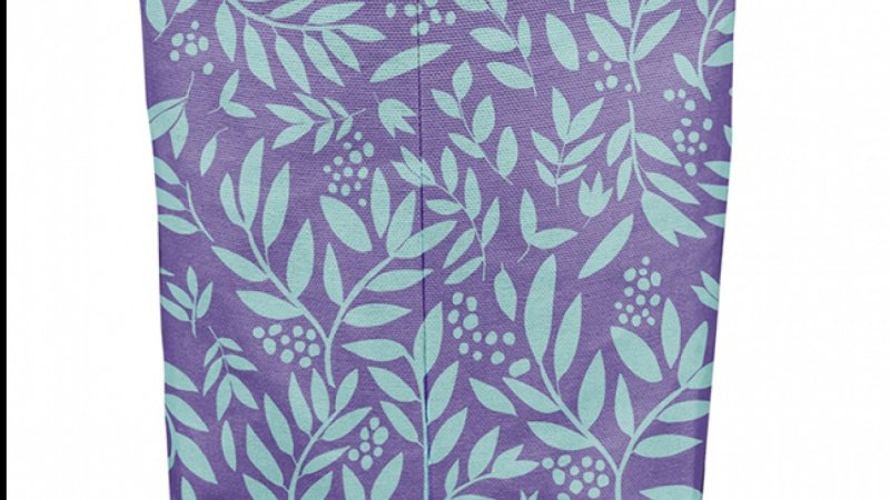 Leaves in teals for my fabric bucket mock up