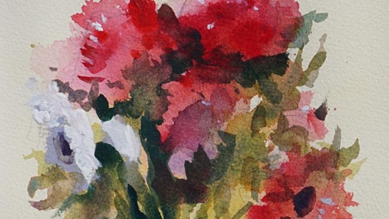 Wet-In-Wet Watercolor Flowers