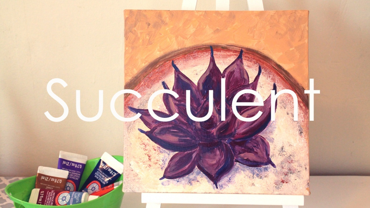 How To Paint A Succulent Easy Step By Step Tutorial Suzanne Kurilla Skillshare