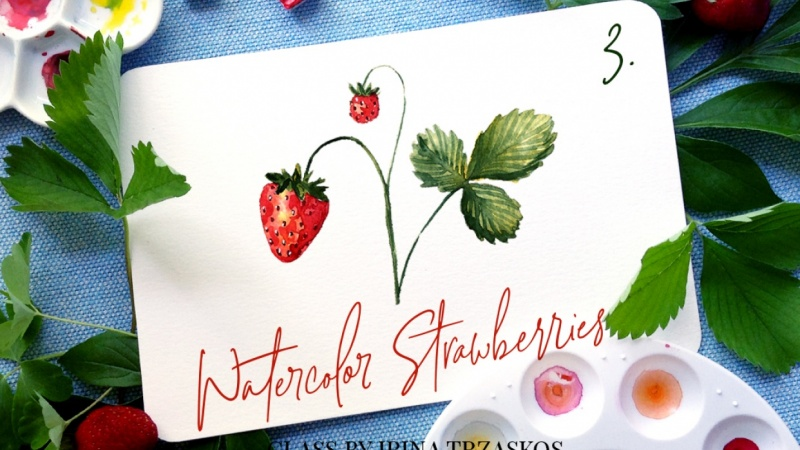 Watercolor Strawberries {Sample Project}