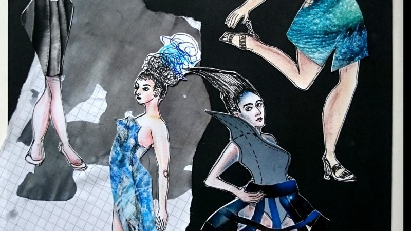 Experimenting with Fashion Illustration
