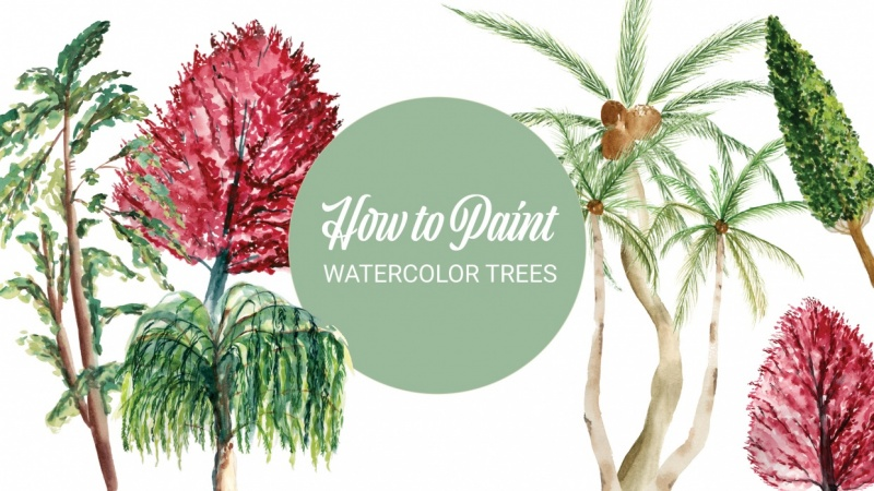 How to Paint: Watercolor Trees - Sample Project