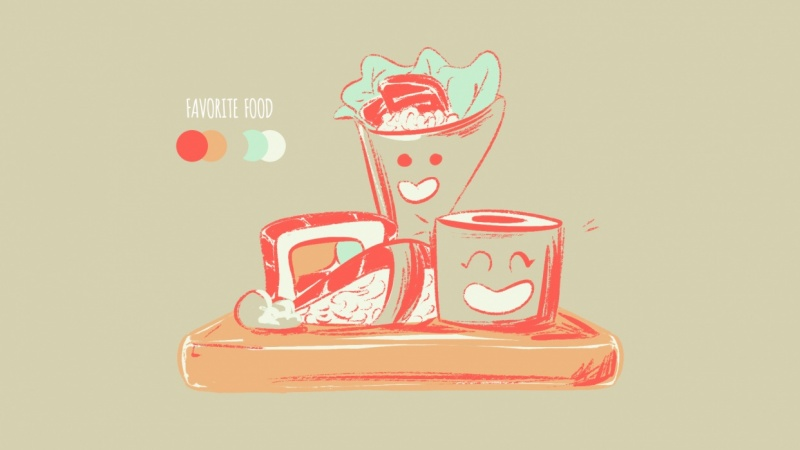 My Favourite Food Using a Palette!
