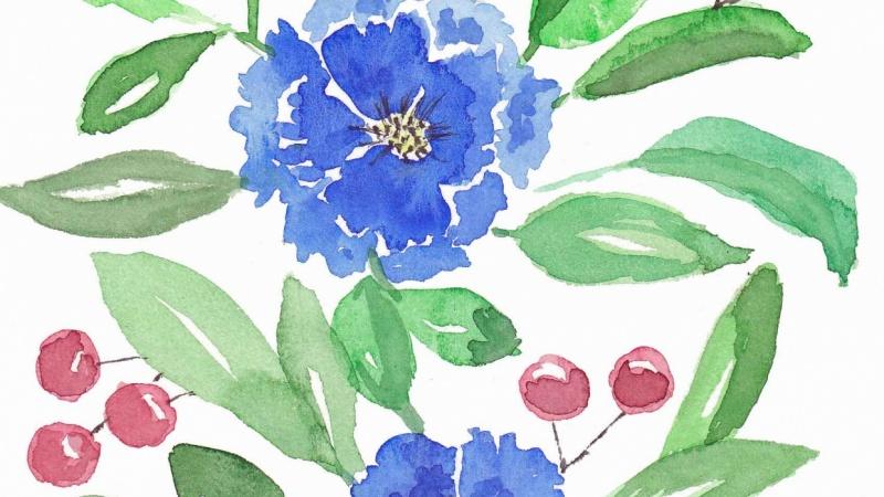 loose blue flowers
