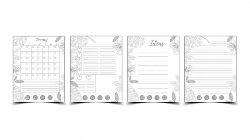 My New Mudcloth Customizable Planner! (free download)