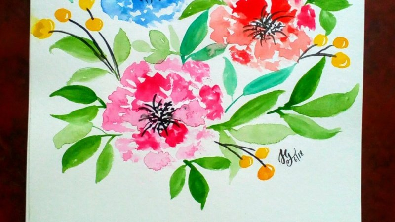 Watercolor Painting: How to paint loose florals [SAMPLE PROJECT]