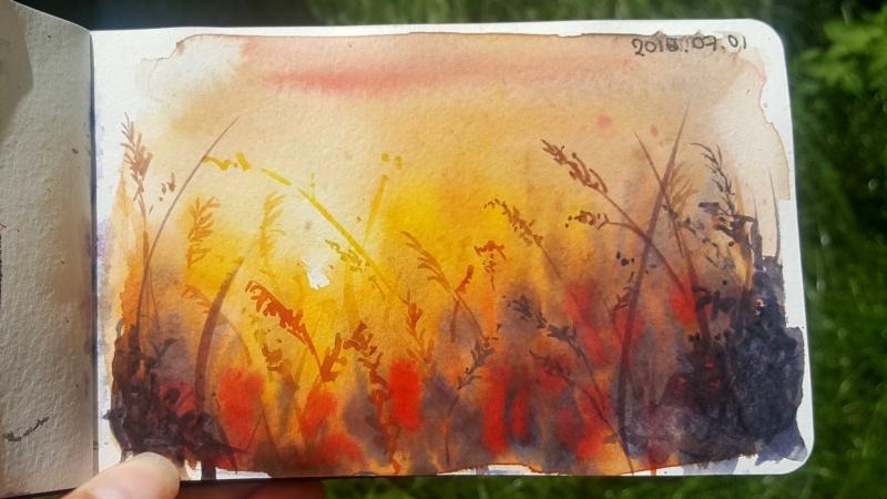 Summerfields in watercolor