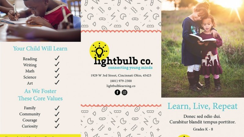 Lightbulb Co. Trifold Brochure