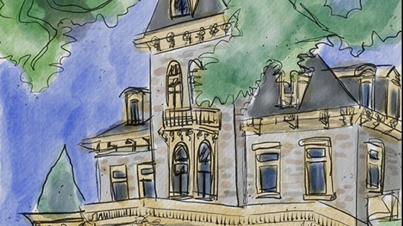 Mansion Ink and Wash