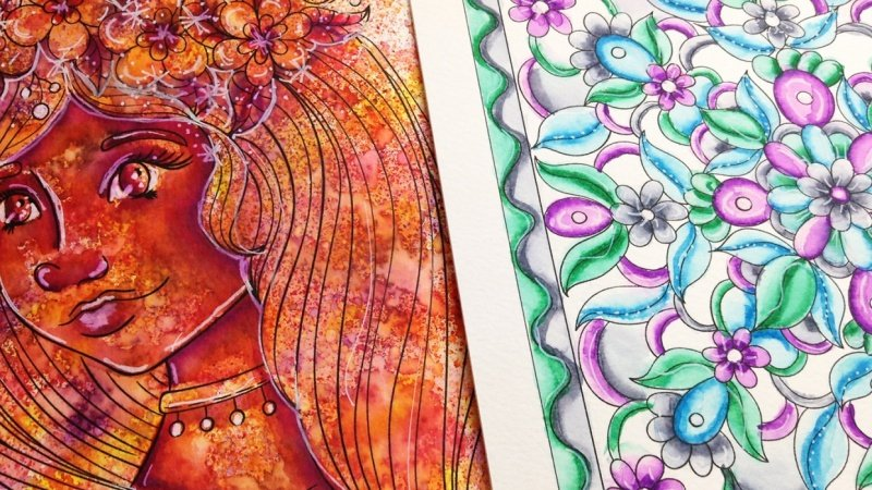 Coloring with Water Based Markers - Sample Project