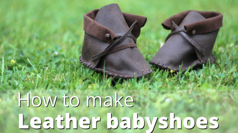 How to make leather baby shoes DIY