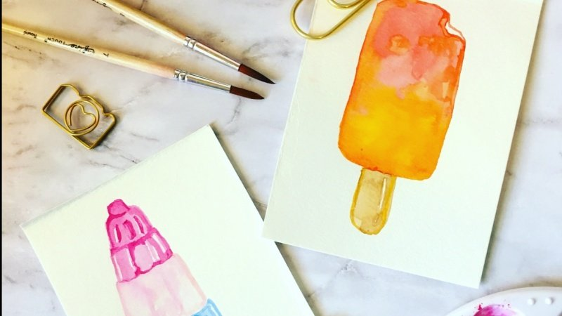 How To Sketch Watercolor Ice Cream: 12 Different Ways