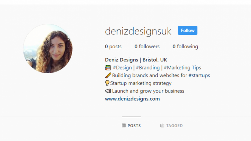 Deniz Designs - New Bio IG