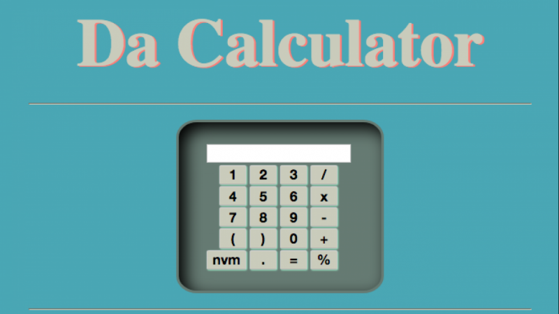 Build Your Own Calculator App with Javascript, HTML5 & CSS