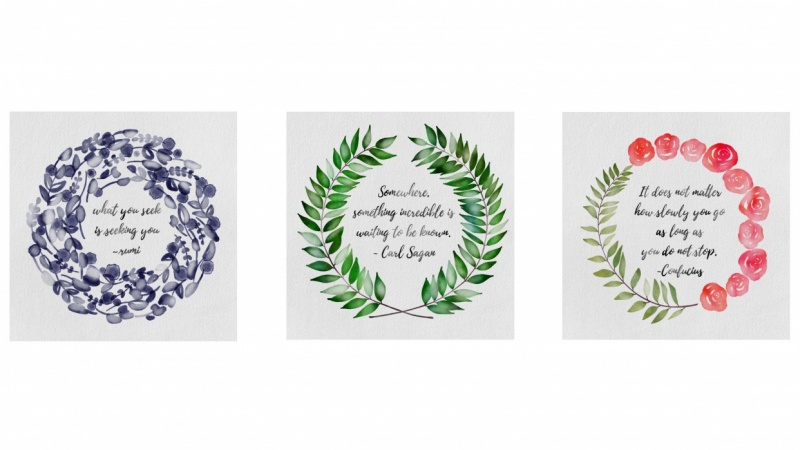 3 Styles of Watercolor Wreaths