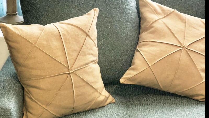 Gold Origami Pillows