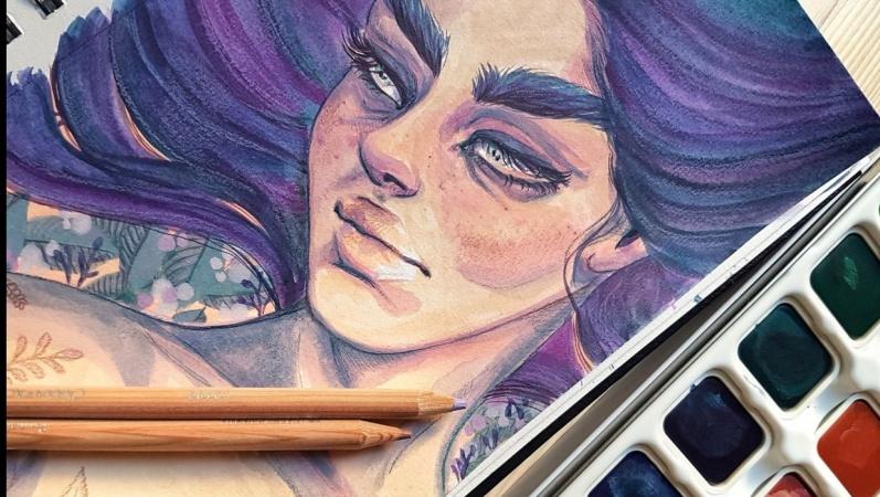 My Gouache & Colored Pencils Portraits