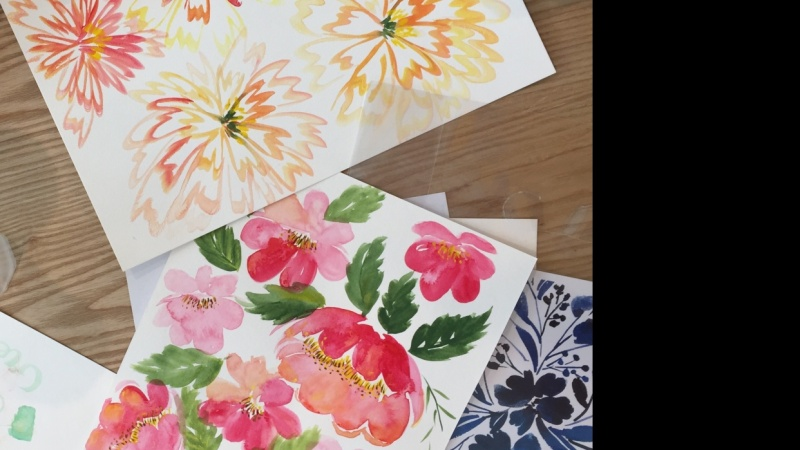 How To Paint Peony in 3 Ways LIVE Class in Kuala Lumpur