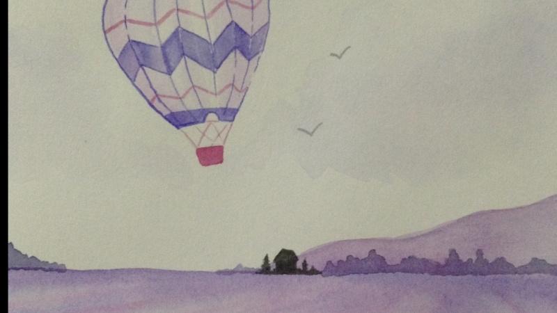 Watercolour Hot Air Balloon