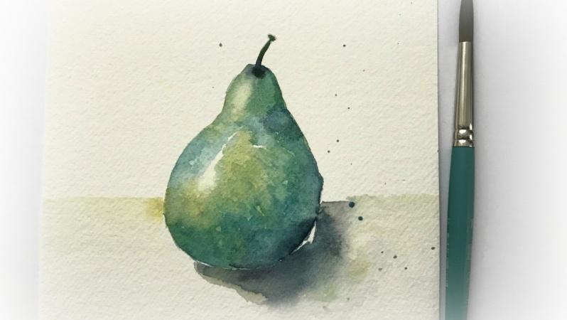 Pretty Watercolor Pear - Sample Project