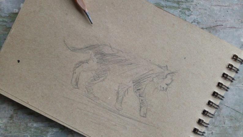 3 min kitten sketch