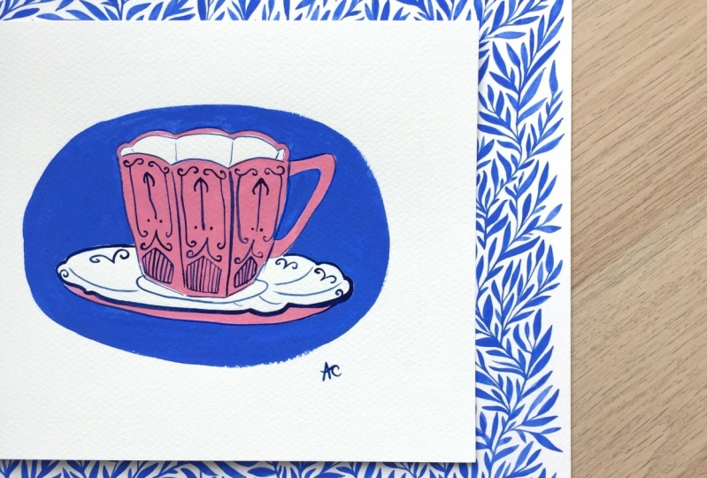 Painting a Teacup in Gouache
