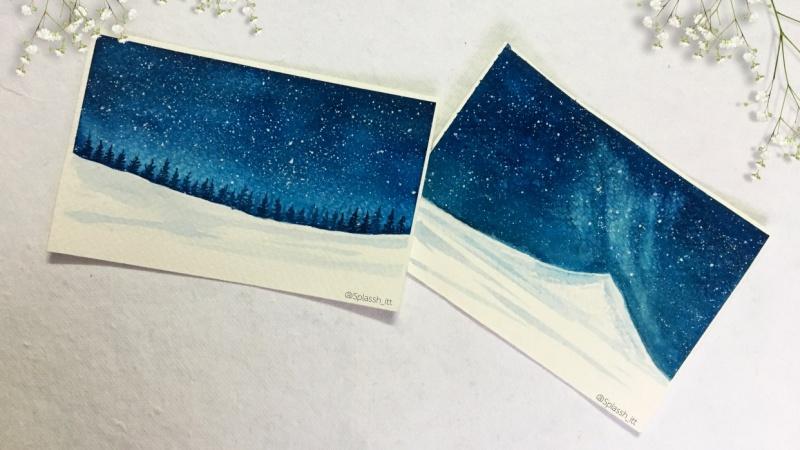 Snow Galaxy Landscape