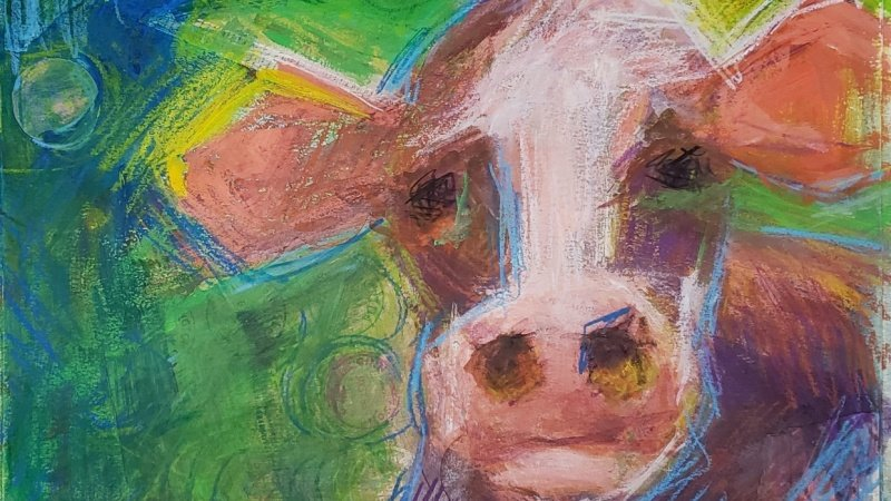 Expressive Cow Painting 1