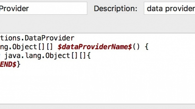 Example Project - Code Snippet for Data Provider