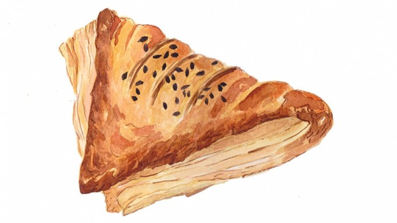Food Illustration - Pastry Triangle